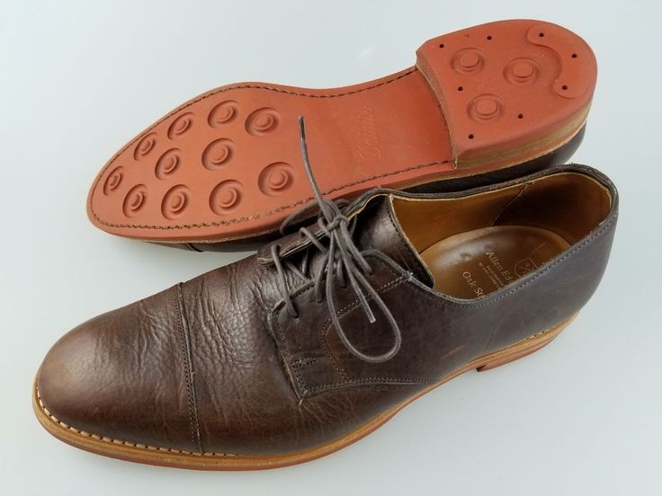 ALLEN EDMONDS Oak Street Brown Leather Dainite Soles Lace Up Shoes Men's 11.5 D #AllenEdmonds #Derby