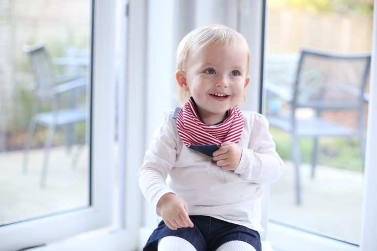 Neckerchew #teethingbaby is soft, lined, AND reversible! Royal Chic  #cheekychompers