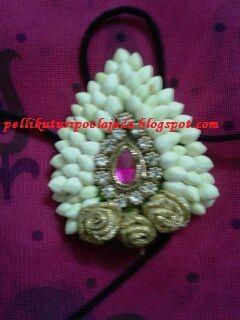 poola jada motif, made with fresh flowers