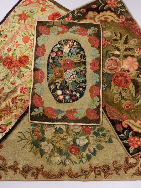 Four Floral Hooked Rugs. | Sale Number 2290, Lot Number 866 | Skinner  Auctioneers