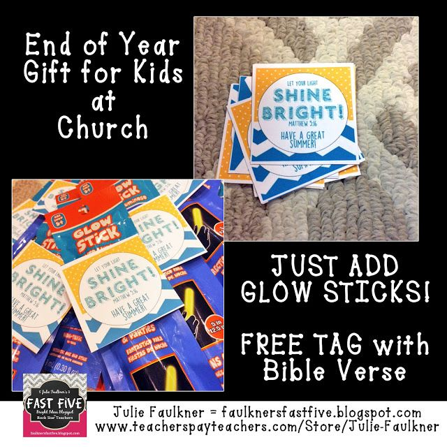 Faulkner's Fast Five | End of Year Gift Tag for Kids a ...
