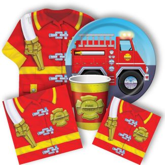 Fire Truck Party Supplies, Fire Engine Party Supplies: Discount Party Supplies