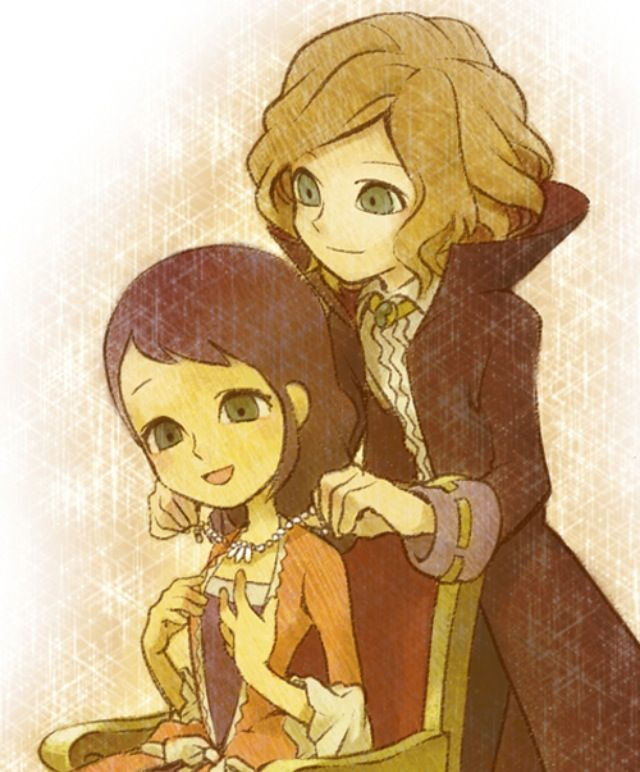 Anton and his Wife- characters from Professor Layton and the Diabolical Box