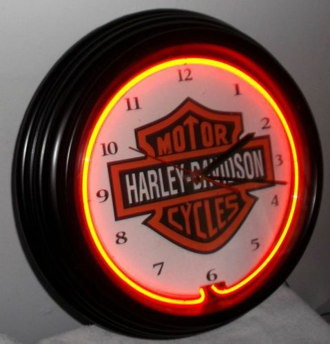 Old Used Harley Davidson Motorcycles 14 5 Inch Red Neon