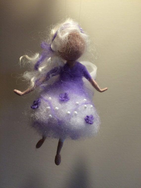 Nadel Gefilzte Fee Waldorf inspirierte Engel von DreamsLab3 auf Etsy