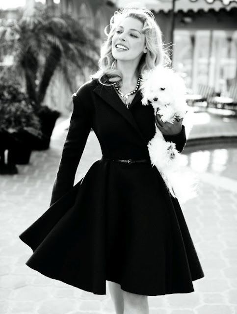 little black dress.  Love the lines: Fashion, Style, Vintage, Dresses, Outfit, Katherine Heigl, Black Dress, Coat