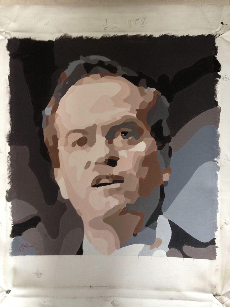 Bill Shorten oil on canvas