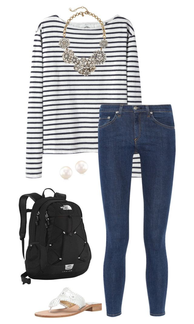 """ootd! :)))"" by sassy-and-southern ❤ liked on Polyvore featuring Wood Wood, rag & bone, J.Crew, Jack Rogers and The North Face"