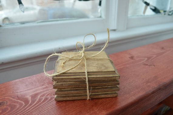 Wooden Coaster set of 4 by LKWoodenthings on Etsy, $12.00