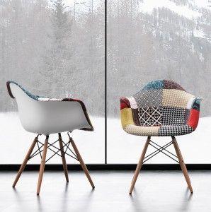 Sedia Oslo Patchwork Multicolor con braccioli - Angolo Design