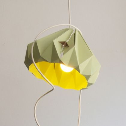 paper origami lamps -- love all the colors these come in!