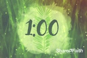 Palm Sunday Religious One Minute Countdown Timer