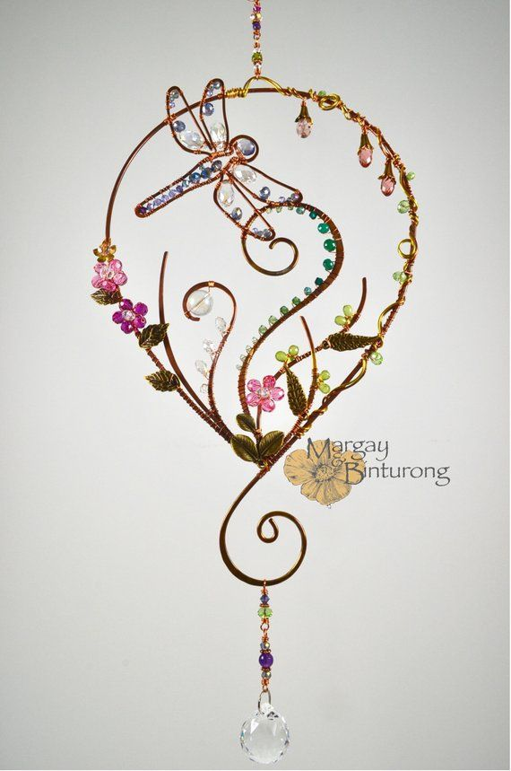 Super Sparkly Garden Dragonfly Suncatcher wire art Swarovski
