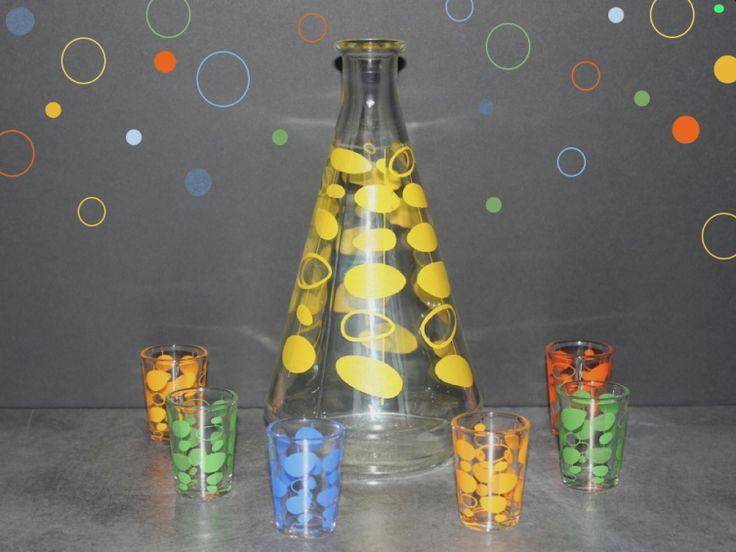 Service à liqueur vintage Seventies