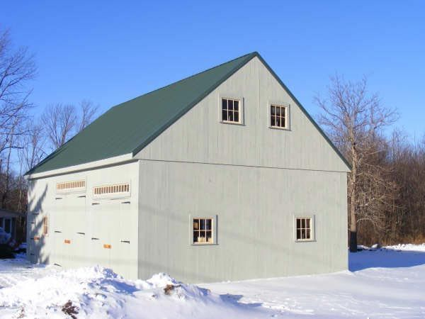 Colonial style post and beam barn kit barn building kits for Post and beam barn plans free