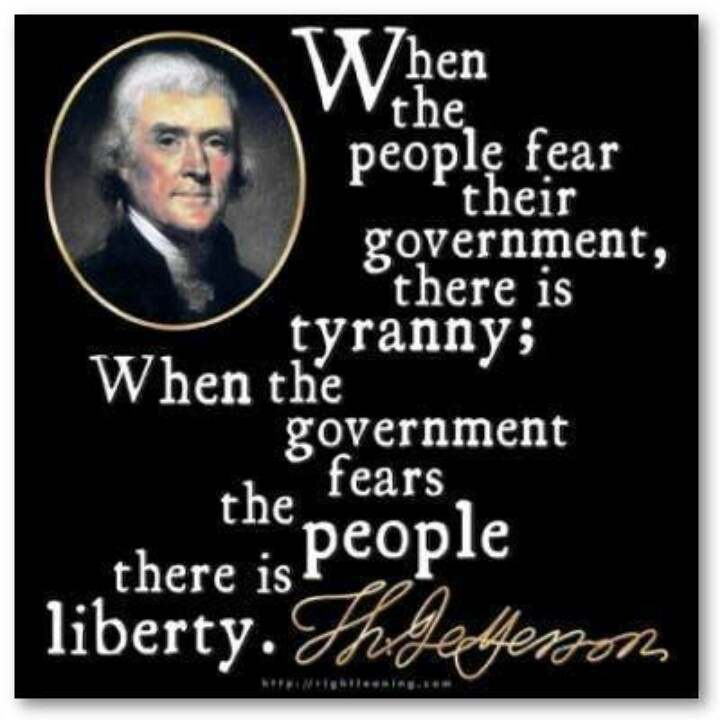 Image result for people should not fear their government