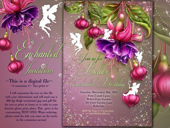 fairy invitation fairy party invitation birthday party invitations fairy garden party whimsical