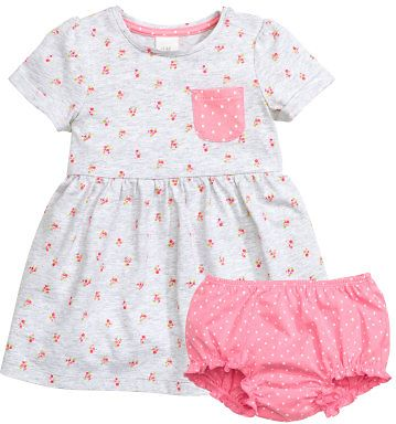 (3 Colors) $9.99 H&M Jersey Dress And Puff Pants Set