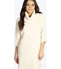 boohoo Roll Neck Chunky Batwing Jumper Dress - vanilla No off-duty wardrobe is complete without a casual day dress. Basic bodycon dresses are always a winner and casual cami dresses a key piece for pairing with a polo neck , giving you that effortless eve http://www.comparestoreprices.co.uk/womens-clothes/boohoo-roll-neck-chunky-batwing-jumper-dress--vanilla.asp