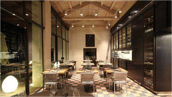 An Italian restaurant on a sparsely populated island near Venice, on ...