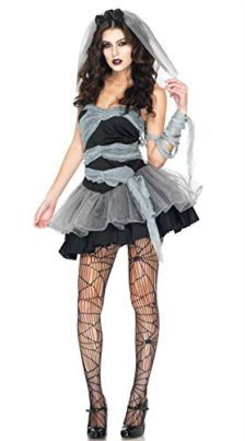 New Adult Womens Sexy Halloween Party Ghost Bride Costumes Outfit Fancy Vampires Zombie Cosplay Dresses With Veil Tag a friend who can pull this off! #Zombie #Halloween #Costume
