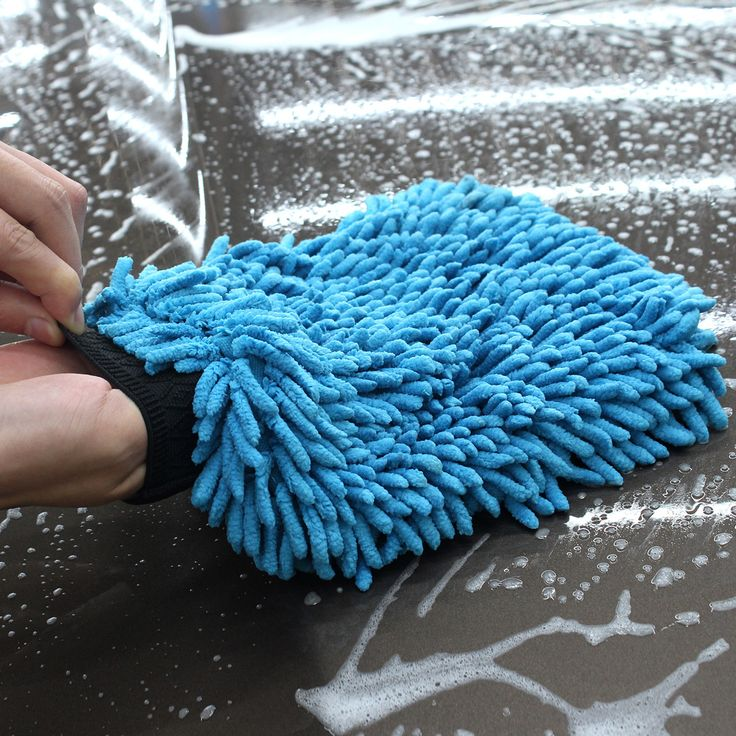 Auto Perawatan 2 in 1 Ultrafine Serat Chenille Microfiber Cuci Mobil Glove Mitt untuk Mobil Mesin Cuci & Pembersih (Anthozoan/Mie)