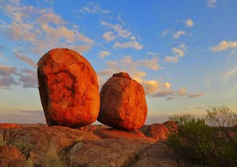 Google+ Formed by erosion over millions of years, the Devils Marbles are made of granite and vary in size from 50 centimetres up to six metres. Appearing to defy gravity, they continue to crack and erode - creating an ever changing landscape. (Photo: Our Naked Australia