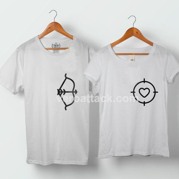 Bow And Arrow Hunting Love Couple Tshirt