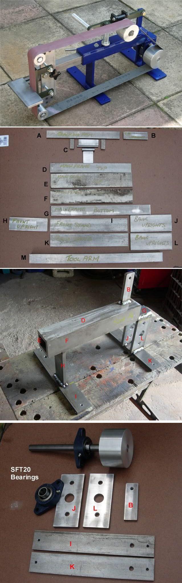 Shop-made Belt Grinder #diy #tools #workshop http://britishblades.com/forums/showthread.php?60352-Let%C2%92s-make-a-Grinder