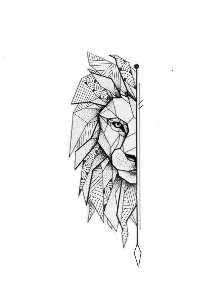 Drawing Henna Henna Drawing In 2020 Geometric Lion Tattoo Geometric Lion Geometric Drawing