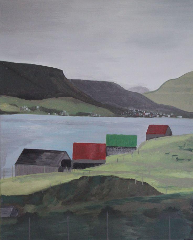 Birgitte Nora Frandsen. 1948 - . Painting ( Faroe Islands, Glyvrar ) / Produkter / Katalog / Magento administration
