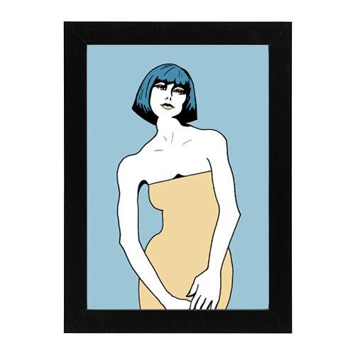 #bluehairedgirl #pen #drawing #digitalized