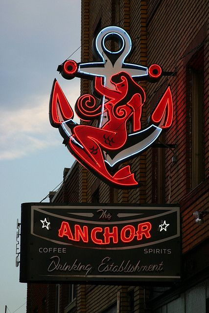 Nudie and Neon! The Anchor Neon Sign