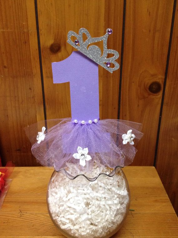 Sofia the first centerpiece by Fancymycupcake on Etsy