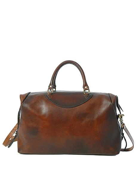 Sandast - Munich Leather Bag (Brown) | Ugh, perfect for an overnight stay. If only I had all the $ in the world...