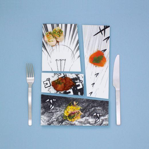 Manga Plates by Mika Tsutai