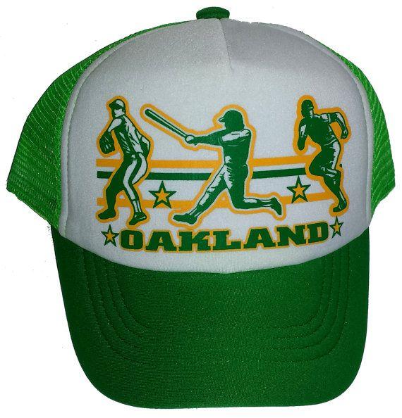 Kid's Youth TODDLER Oakland  Baseball Mesh Trucker by ThatsRadcom