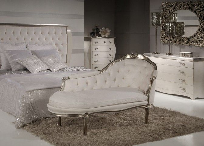 Silver Chaise Longue May