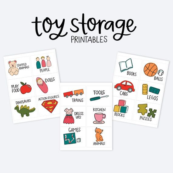 Kids Toy Room Organization Labels Storage Picture by alexazdesign