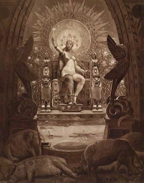 Circe...tattoo inspiration...love position and the sun burst in the back (possible framing)