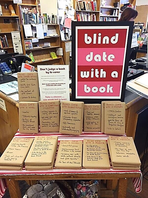 "CA – Bookshop Santa Cruz, Santa Cruz, Santa Cruz county, California, USA. ""Blind date with a book"" was a temporary program offered by this bookstore located at 1520 Pacific Ave. @ Locust St. ""Don't judge a book by its cover – Take a chance... You might fall in love!"" https://www.google.ca/maps/place/Bookshop+Santa+Cruz/@36.975497,-122.0349113,15z/data=!4m5!3m4!1s0x808e4025f9516b77:0xba36c08ccbba3451!8m2!3d36.975497!4d-122.0261566"