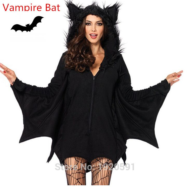 black vampires | Black Evil Vampire Bat Costume Women Halloween Costumes Plays Vampire ...