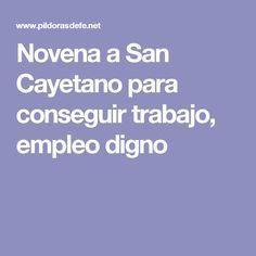 Novena a San Cayetano para conseguir trabajo, empleo digno
