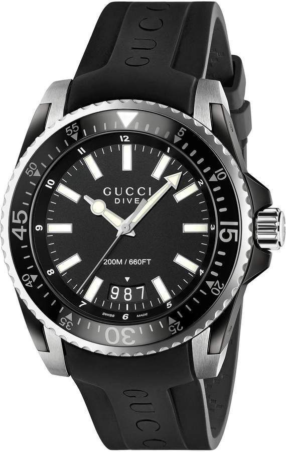 Gucci Dive, 45mm  mens watches, mens watches affordable, mens watches under $200, mens watches 2018, mens watches popular, mens' watches, men's watches #menswatchesunder$200