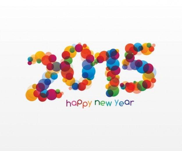 Schrijf op ronde papiertjes de nieuwjaarswensen van de kinderen, hang deze op in de vorm van het jaartal.