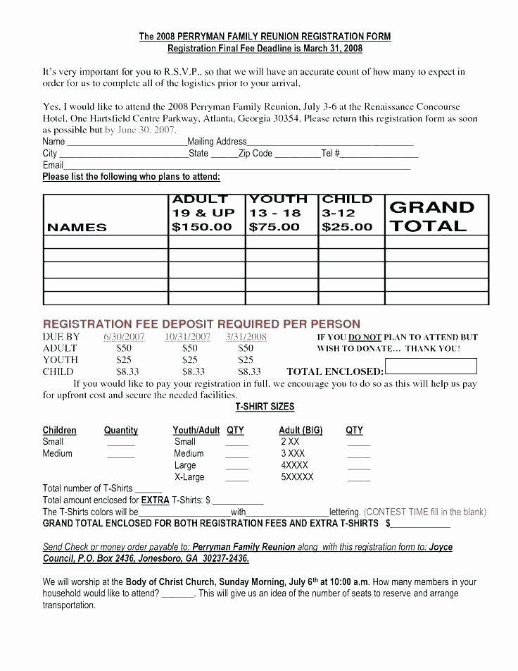 Fresh Conference Registration Form Template In 2020 Letter