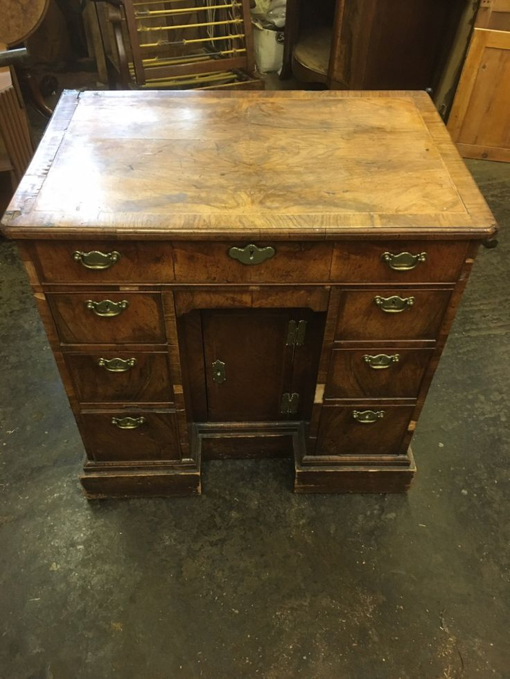 Antique George II walnut kneehole desk – Daniel Chapman antique furniture restoration