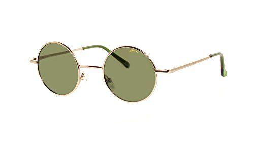Sonnenbrille John Runde Retro Hippi Brille 60er Jahre Lennon