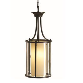 allen roth harpwell 906in w oilrubbed bronze hardwired standard pendant light with