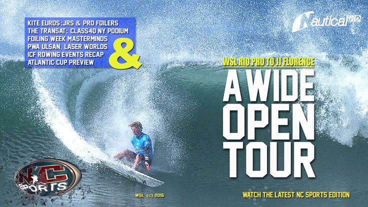 NC Sports  27 May  JJ Florence Wins Rio Pro, Laser Worlds, Foiling Week ...